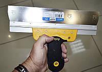 347 Шпатель профессиональной из нержавеющей стали 300 мм с резиновой ручкой Hassan