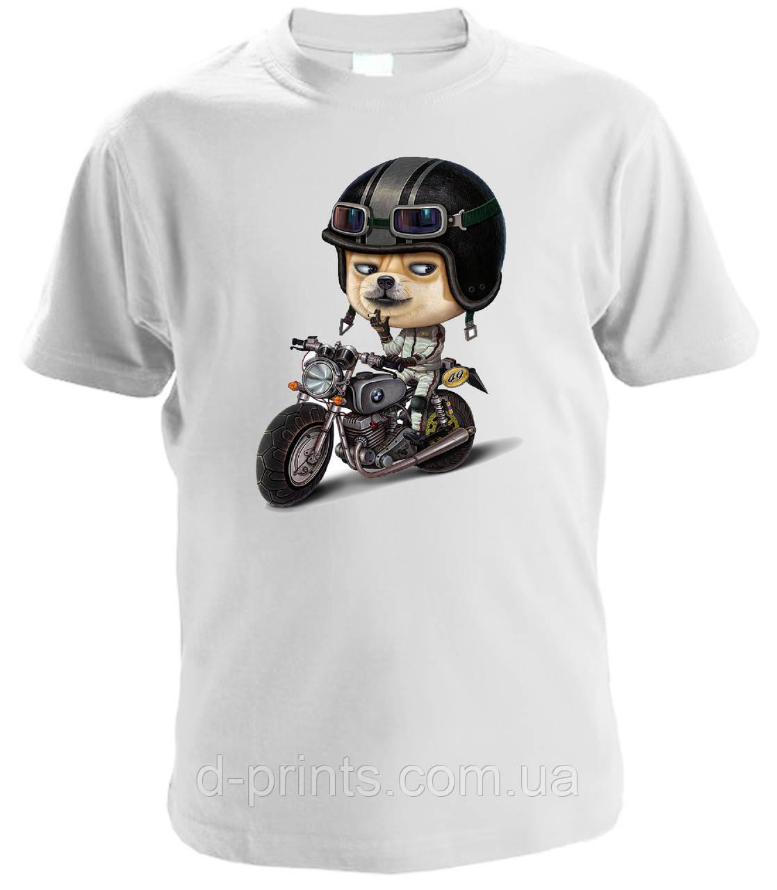 "Футболка детская с рисунком ""Мотоциклист"""