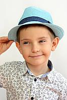 Детские шляпы Famo Шляпа детская Барбадос голубая 51 - 137147