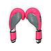 Боксерские перчатки THOR TYPHOON (PU) PINK-GREY-WHT, фото 2