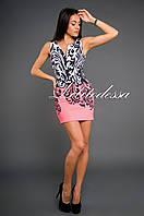Коктейльное платье с тату принтом, фото 1