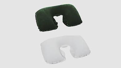 Велюровая подушка-подголовник BESTWAY 67006. Белая и зеленая