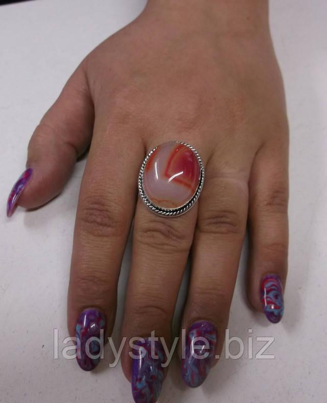 серебряный перстень кольцо украшения купить агат оникс