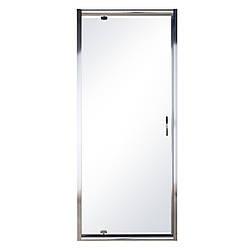 EGER Дверь в нишу распашная 80*185 хром прозрачная