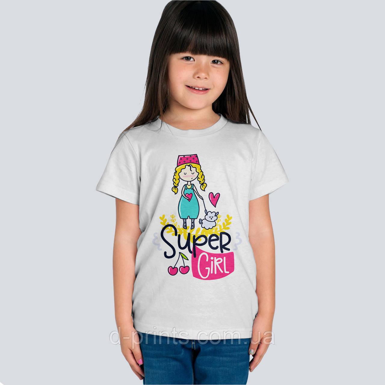 """Футболка детская с рисунком """"Super girl"""""""