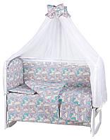 622897 Детская постель Babyroom Comfort-08 unicorn серый (единороги)