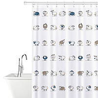 Штора для ванной комнаты Tatkraft 180 х 180 см Веселые Овечки 14862, КОД: 166756, фото 1