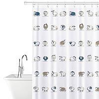 Штора для ванной комнаты Tatkraft 180 х 180 см Веселые Овечки 14862, КОД: 166756