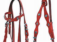 Вуздечка для коня + поводи + мартингал , фото 1