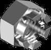 Гайка М10 корончатая шестигранная метрическая, сталь, кл. пр. 8, ЦБ (DIN 935)