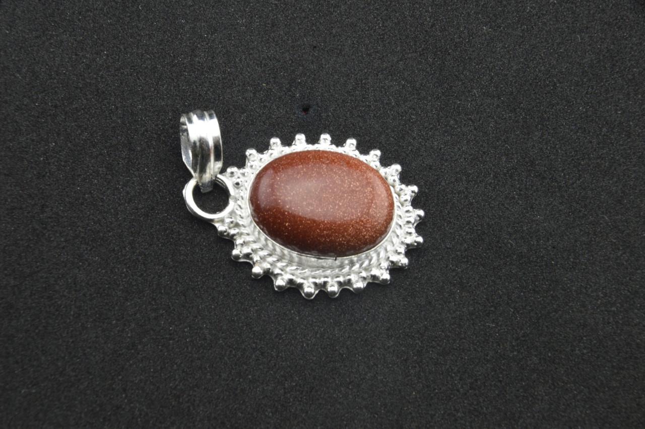 Серебряный кулон с ярким камнем кварц Индия серебро 925 проба