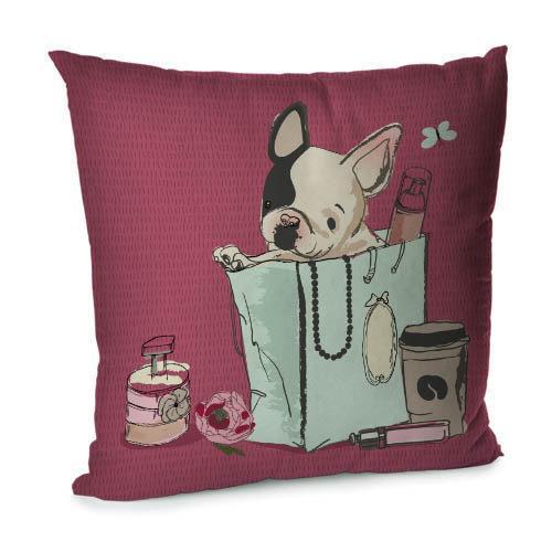 Подушка диванная с бархата Sweet life 45x45 см (45BP_DOG006)
