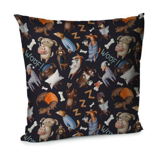 Подушка диванная с бархата Woof! 45x45 см (45BP_DOG026)