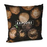 Подушка бархатная 45х45 Organic Explore (45BP_ORG013)
