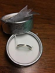 Тонкое серебряное кольцо с камнями Камея