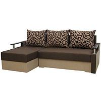 Угловой диван Garnitur.plus Микс коричневый 230 см DP-361, КОД: 181567