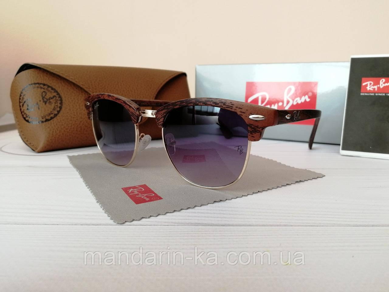 Очки унисекс солнцезащитные кламбастер фиолетовый градиент (реплика)