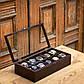 Шкатулки для подзавода Hetch Деревянная шкатулка для часов на 10 отделений DABO Hetch DS6, фото 3