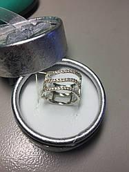 Серебряное кольцо с фианитами Агата