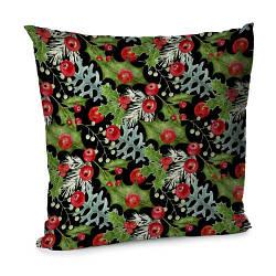 Подушка диванна з оксамиту Новогодний декор 45x45 см (45BP_17NG014)