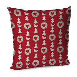 Подушка диванна з оксамиту Новогодний ребус 45x45 см (45BP_17NG016)