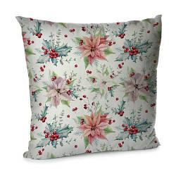 Подушка диванна з оксамиту Рождественник 45x45 см (45BP_17NG017)