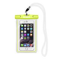 Чехол для мобильного телефона ROMIX водонепроницаемый флюорисцентный Лайм RH11GN, КОД: 134020