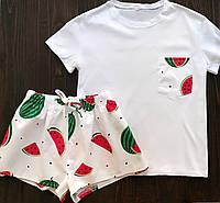 Пижама футболка и шорты L-XL арбуз