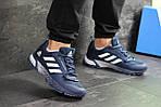 Чоловічі кросівки Adidas Fast Marathon 2.0 (синьо-білі), фото 6
