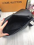 Молодіжна чоловіча сумка месенджер Louis Vuitton чорна Якість сумка на плече Брендовий Луї Віттон репліка, фото 9