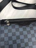 Молодіжна чоловіча сумка месенджер Louis Vuitton чорна Якість сумка на плече Брендовий Луї Віттон репліка, фото 6