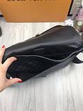 Молодіжна чоловіча сумка месенджер Louis Vuitton чорна Якість сумка на плече Брендовий Луї Віттон репліка, фото 10