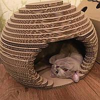 Лежак Корзина для Кошки Когтеточка Домик для Кота 28 х 45 см Котосфера Когтедралка Царапка. Звоните!