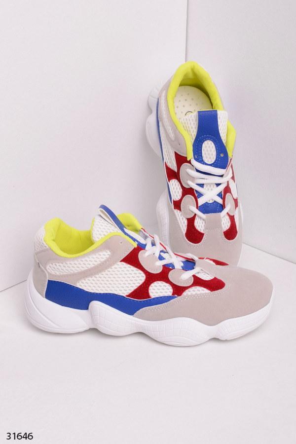 Шикарные кроссовки серые+белые+синие+черные+ красный эко-замш+кожа и текстиль