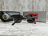 Очки унисекс солнцезащитные Ray Ban рей  Бен  кламбастер линза серебро (реплика), фото 4