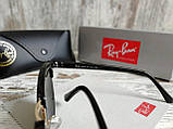 Очки унисекс солнцезащитные Ray Ban рей  Бен  кламбастер линза серебро (реплика), фото 5