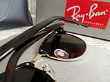 Очки унисекс солнцезащитные Ray Ban рей  Бен  кламбастер линза серебро (реплика), фото 6