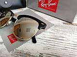 Очки унисекс солнцезащитные Ray Ban рей  Бен  кламбастер линза серебро (реплика), фото 2