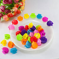 "(95-100шт) Детские крабики для волос 21х18х16мм,""Ракушки"" Цвета - Микс"