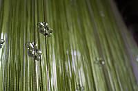 Шторы нити  с цветочными кристалами
