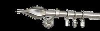 Карниз одинарный 160см D25мм сатина никель TWISTO