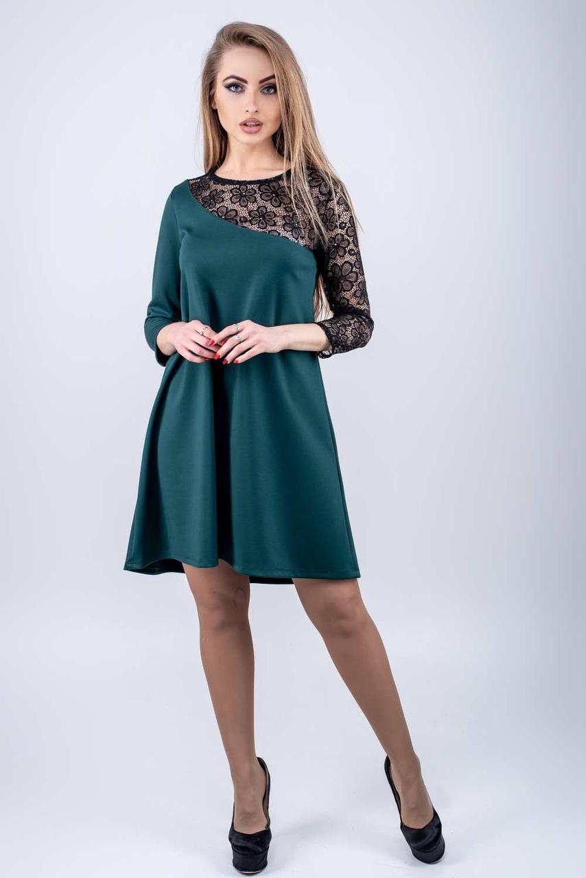 Молодежное платье Сакура зеленый(44-52)