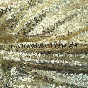 Ткань пайеткамелкая золото (пайетка на сетке)