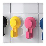 ИКЕА TISKEN Крючки с присоской, разные цвета, 4 шт., фото 3