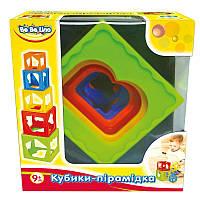 Детская игрушка Кубики-пирамидка 9М+ (украинская упаковка)