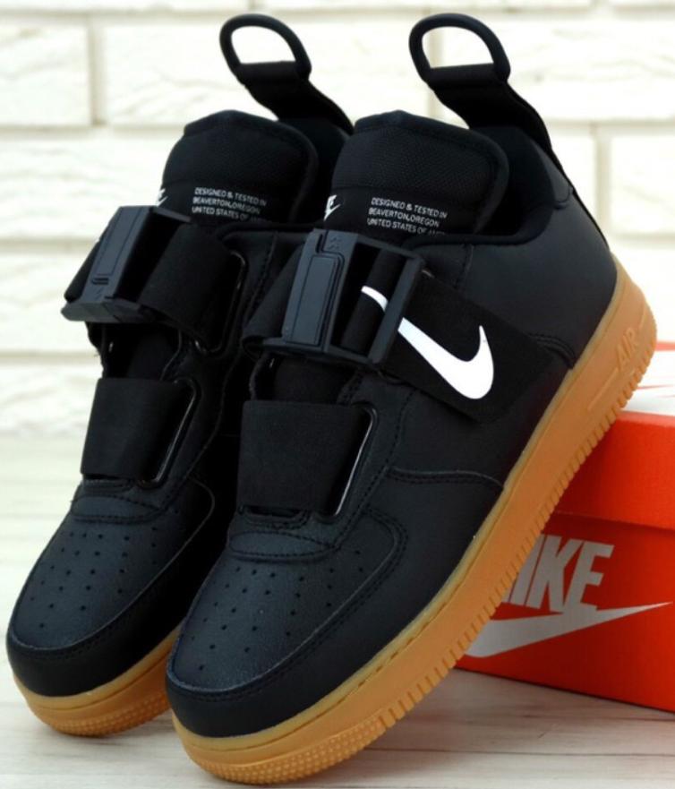 Кроссовки мужские Nike Air Force 1 Low Utility, найк аир форс черные