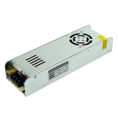 Блок питания для светодиодной ленты 12в 360вт 30А IP20 SLIM негерметичный MOTOKO с активной системой охлажден