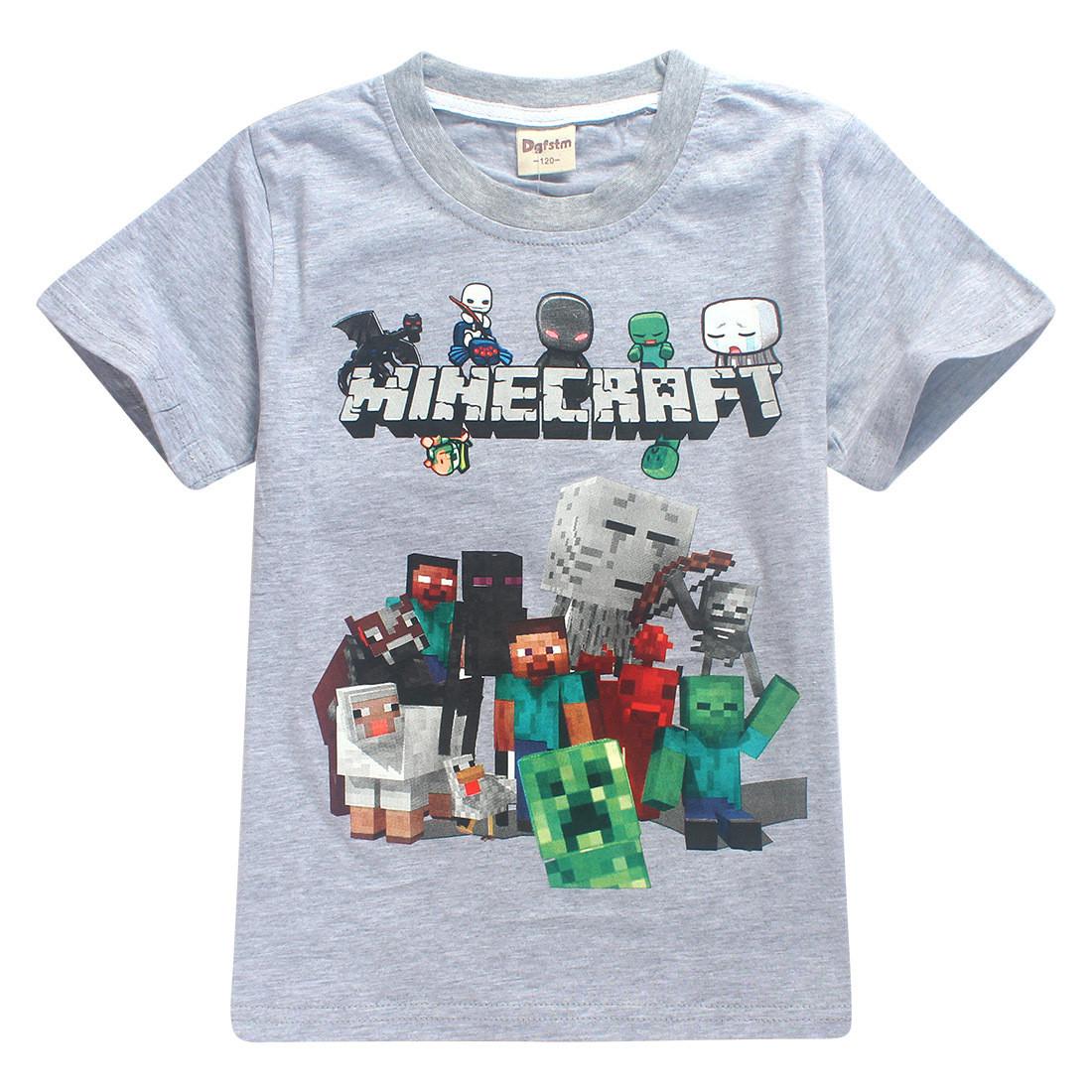 Футболка Minecraft Все Герои серая