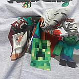 Футболка Minecraft Все Герои серая, фото 2