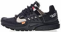 """Мужские кроссовки Off White x Nike Air Presto """"Black"""" AA3830-002 (в стиле Найк Аир Престо Офф Вайт) черные"""